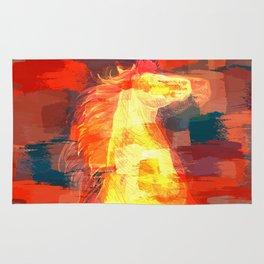 Mixed media  horse digital art Rug