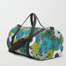 Vintage Florals Chrysanthemum Duffle Bag