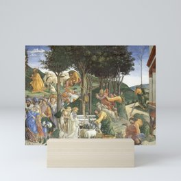 Trials of Moses Painting by Botticelli - Sistine Chapel Mini Art Print