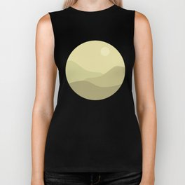 Minimal Meadow Day Biker Tank