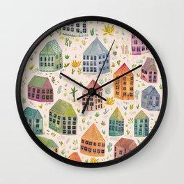 Cactus Town Wall Clock