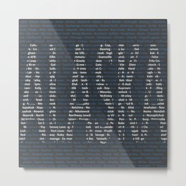 Alaska and All Her Cities Metal Print