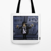 hunter x hunter Tote Bags featuring Hunter x Hunter: Leader of the Spiders by Michelle Rakar
