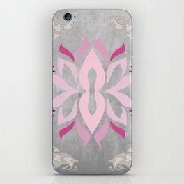 grey / flower/shades iPhone Skin