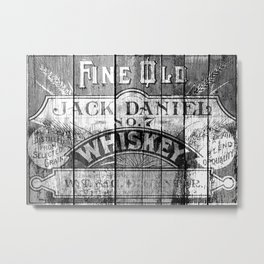 Jack Daniel - Vintage Wiskey Metal Print