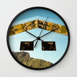 Mirror House Wall Clock