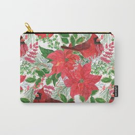 red cardinal birds Carry-All Pouch