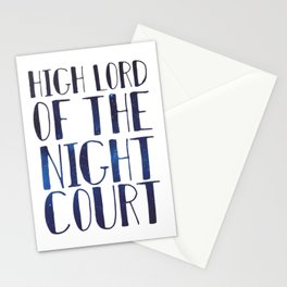 High Lord of the Night Court Stationery Cards