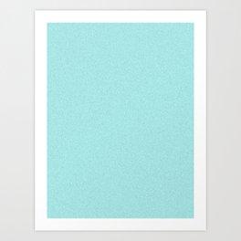 Celeste Cyan Saturated Pixel Dust Art Print