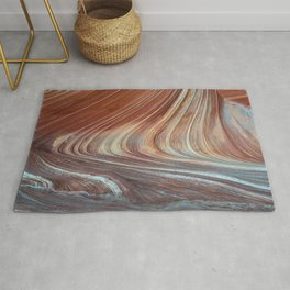 Paria Wilderness: The Wave with Light Blue Sandstone Rug