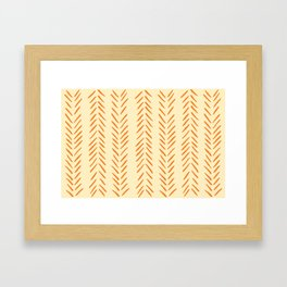 Herringbone Pattern in Autumn Colors Framed Art Print