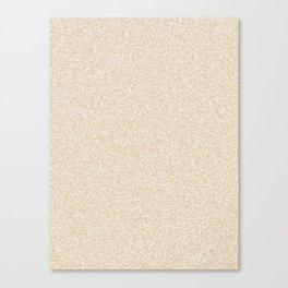Melange - White and Tan Brown Canvas Print