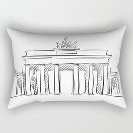 Brandeburg Gate in Berlin Rectangular Pillow