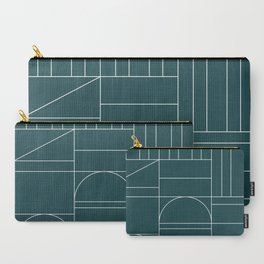 Deco Geometric 04 Teal Carry-All Pouch