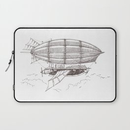 Airship sketch in Steampunk style Laptop Sleeve