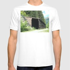 Snow Shed MEDIUM White Mens Fitted Tee