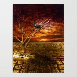 Einsamer Rabe - Lonely raven Poster