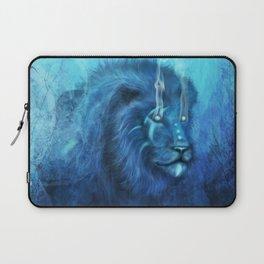 Blue Spirit Lion Laptop Sleeve