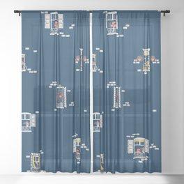 Paris Windows 2 Pattern Sheer Curtain