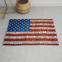 American Flag - USA Stone Rock'd Art United States Of America Rug