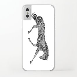 Paisley Pace Clear iPhone Case