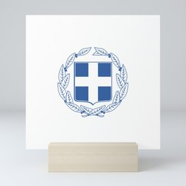 Coast of arms of Greece Mini Art Print