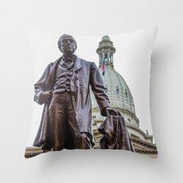 Michigan's War Time Governor Throw Pillow