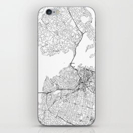 Auckland White Map iPhone Skin