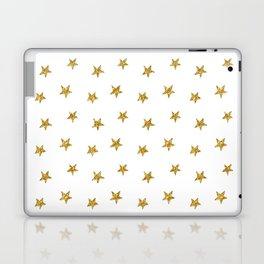 Merry christmas-Stars shining brightly-Gold glitter pattern Laptop & iPad Skin