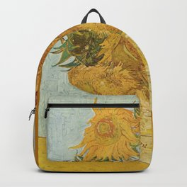 12 Sunflowers by Vincent van Gogh Backpack