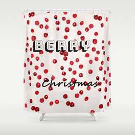 Happy berry christmas II Shower Curtain