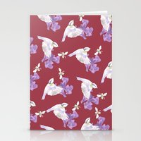 birdy Stationery Cards featuring Birdy by Marlidesigns