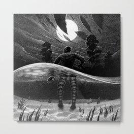 Drawlloween 2014: Creature from the Black Lagoon Metal Print
