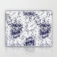 Indigo Splash abstract minimal white and blue nautical water painterly painting monochromatic art Laptop & iPad Skin