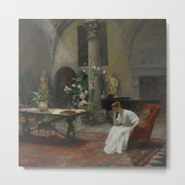 William Merritt Chase - The Song [1907] Metal Print