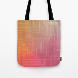 Art Deco sunset Tote Bag