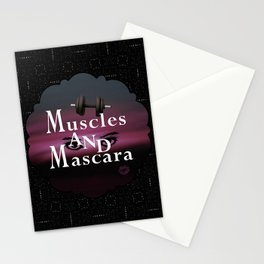 Muscles and Mascara Stationery Cards