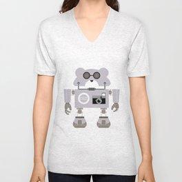 Robot Alpha 60 (Hommage à Jean-Luc Godard) Unisex V-Neck
