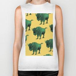 bison pattern Biker Tank