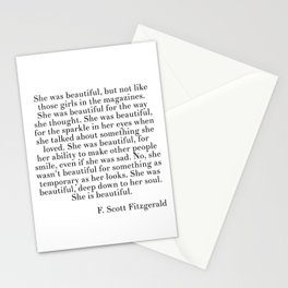 fitzgerald she was beautiful Stationery Cards