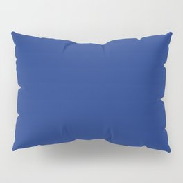Solid Bright Lapis Blue Color Pillow Sham