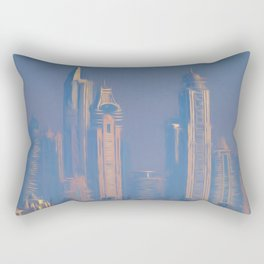Architecture Of Dubai Art Rectangular Pillow