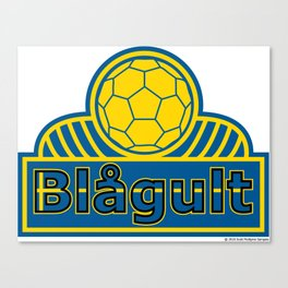Sweden Blågult (The Blue-Yellow) ~Group F~ Canvas Print