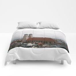 Rainy day in Munich Comforters