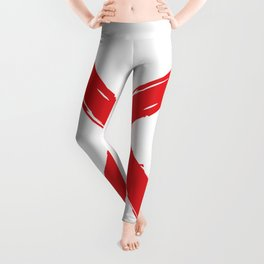 Red X on white background. #society6 #decor #buyart #artprint Leggings