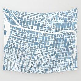 Philadelphia City Map Wall Tapestry