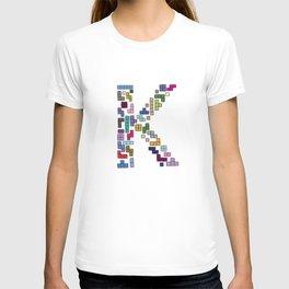 letter k - gaming blocks T-shirt