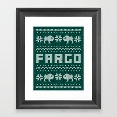 Fargo Sweater Framed Art Print