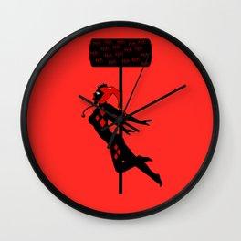 Its Rude To Stare Puddin' Wall Clock