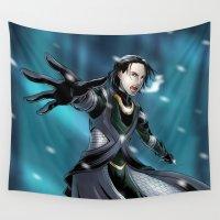 loki Wall Tapestries featuring Loki in Jotunheim by Studio Kawaii